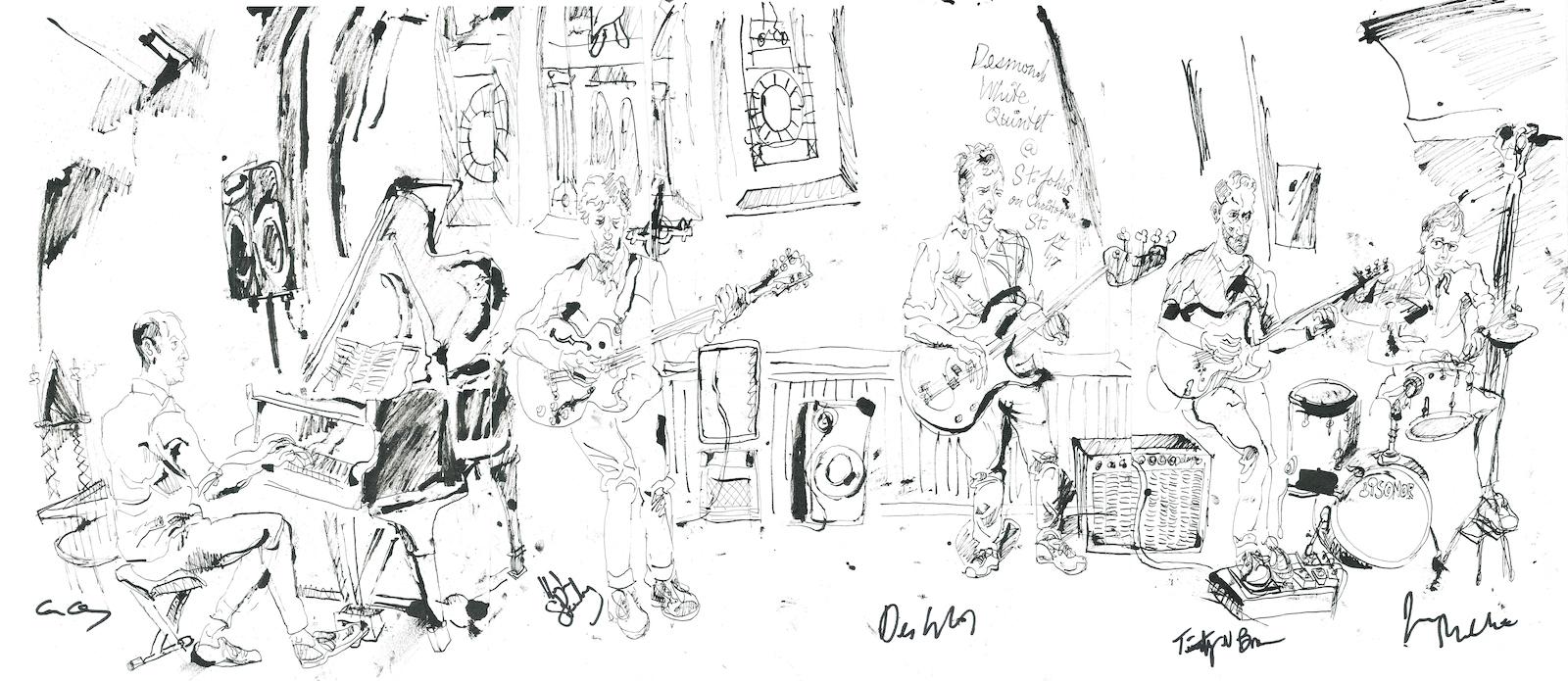 Desmond white quintet at st. john s on christopher street