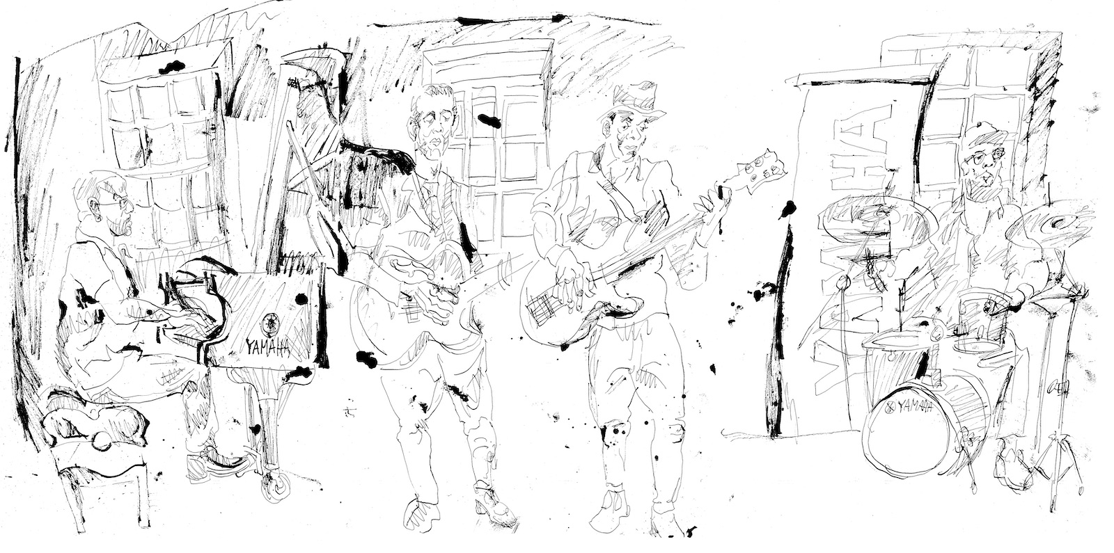 Richie goods quartet at yamaha studios