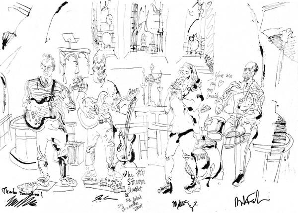 Ike sturm quartet at st. john s church on christopher street