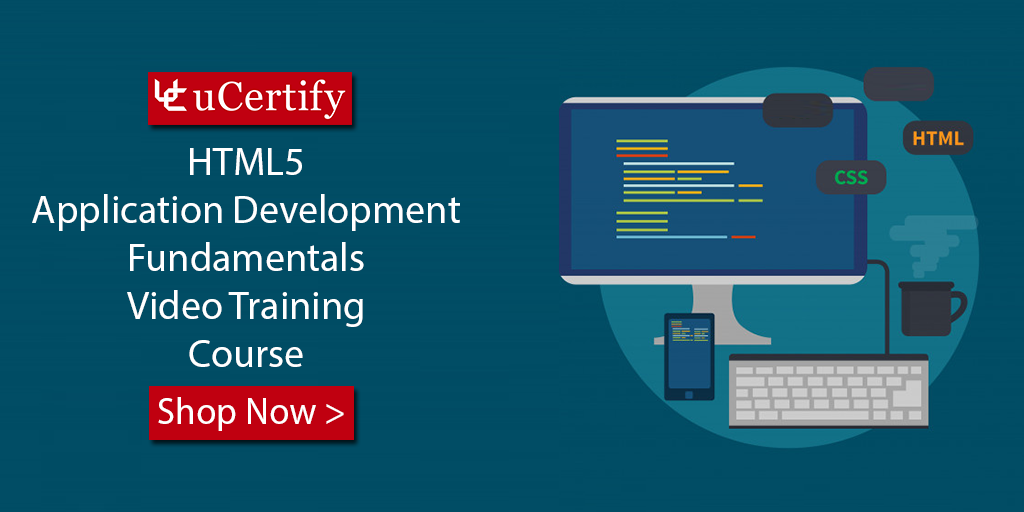 MTA Certification Course- uCertify - Career Path For HTML5 98-375 Exam