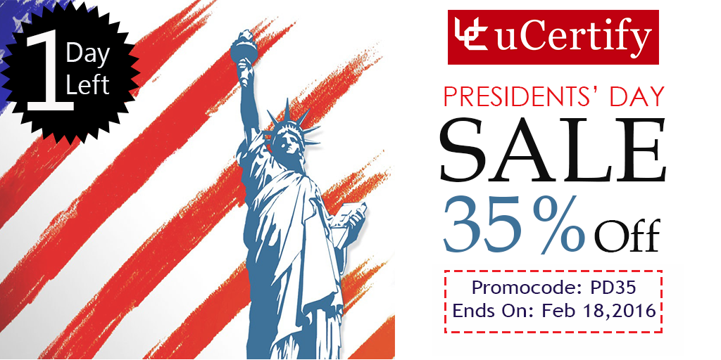 Presidents day sale uCertify