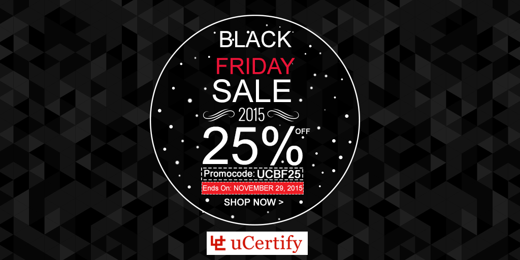 uCertify Black Friday Sale