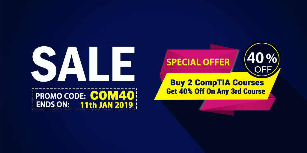 uCertify offers 40% off on any course on buying two CompTIA courses.
