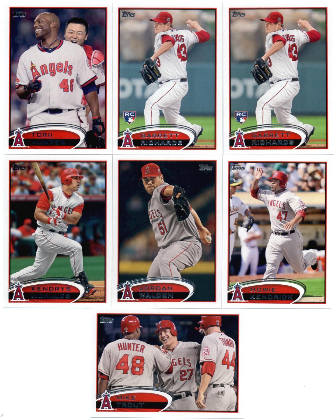 Topps Update 2012 Topps Los Angeles Angels Update Series Team Set -13 Cards- Trout,Iannetta,Weaver,Trumbo,Williams,Wilson,Greinke,Trumbo at Sears.com