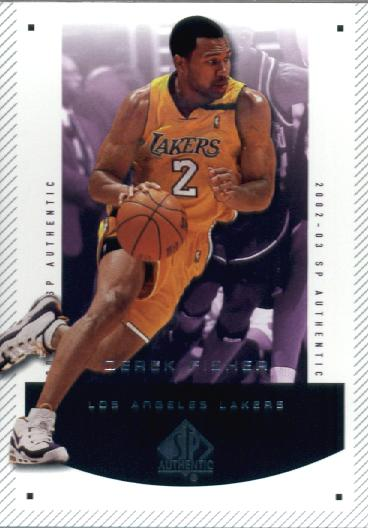 SP Authentic 2002 03 Upper Deck SP Authentic Basketball Card #40 Derek Fisher Los Angeles Lakers at Sears.com