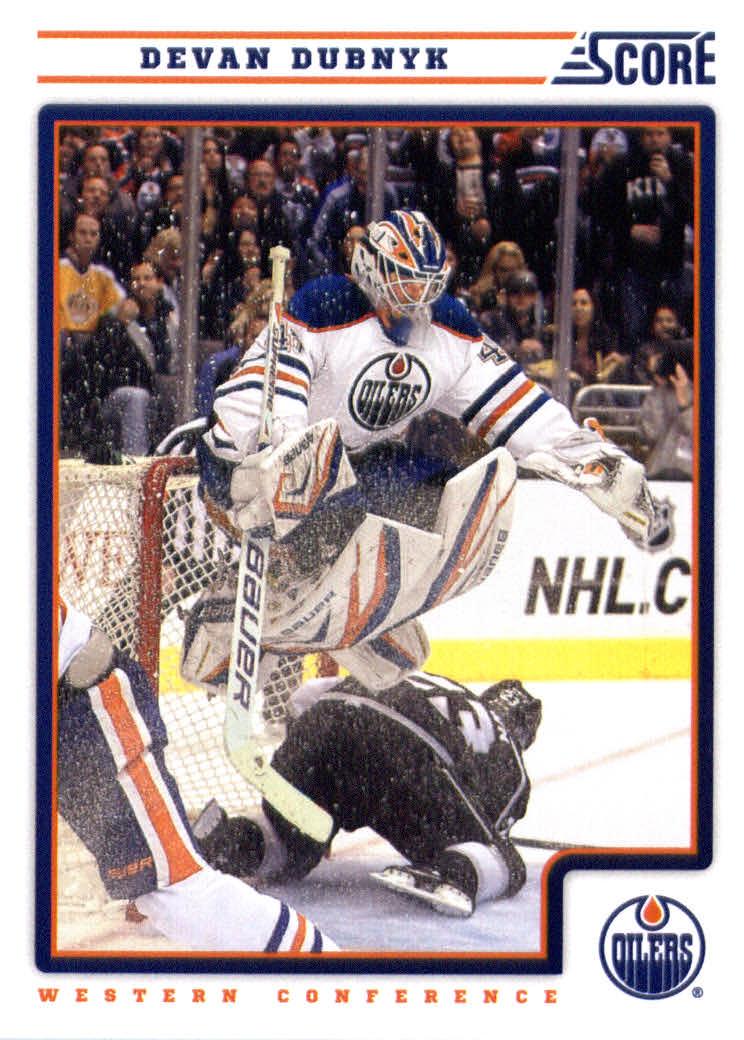 SCORE 2012/13 Score  Hockey Card # 199 Devan Dubnyk Edmonton Oilers at Sears.com