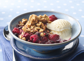Triple Berry Granola Crisp