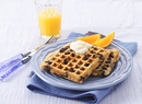 Whole Grain Blueberry Waffles