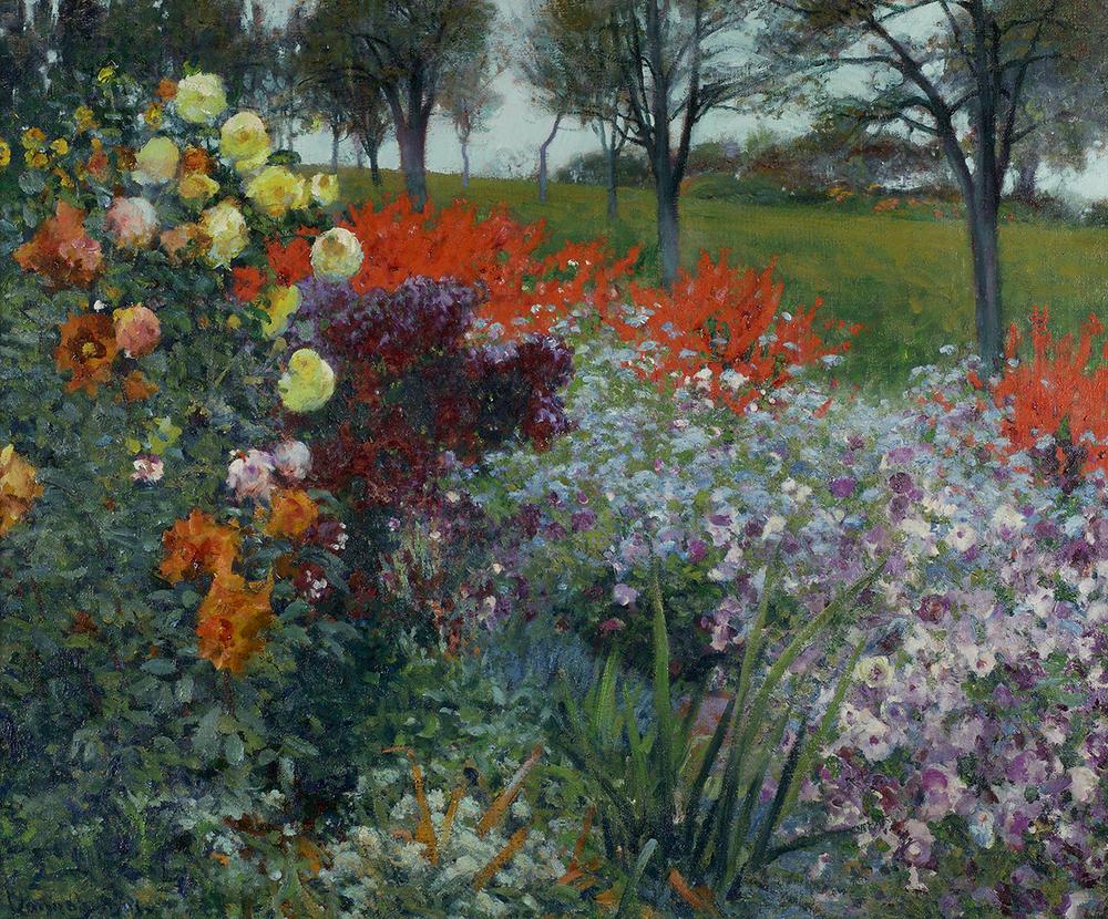 Previous Artist Index Next. Robert Vonnoh (1858 1933) The Edge Of The Garden  ...