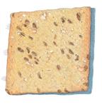 Brown Rice Crackers Sea Salt Illustration