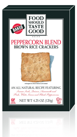 Brown Rice Crackers Peppercorn Blend