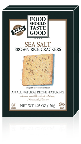 Brown Rice Crackers Sea Salt