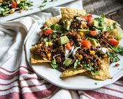 veggy quinoa nachos