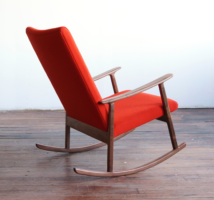 RC01 modern handmade upholstered rocking chair