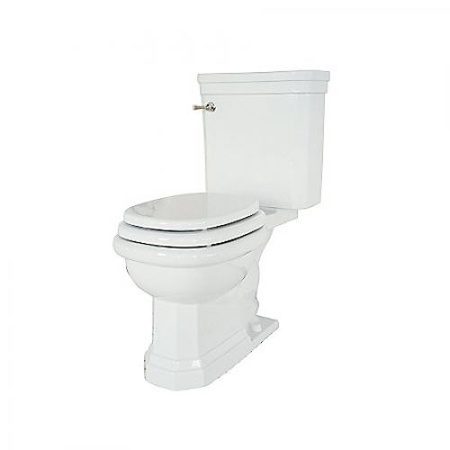 2 Piece High Performance Toilet, Elongated, Less Seat