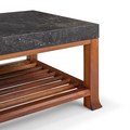 Calligraphy Coffee Table with Stone Top