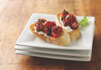 Muir Glen Fire Roasted Tomato and Olive Bruschetta