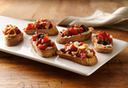 Muir Glen Tomato-Artichoke Bruschetta with Feta