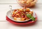 Muir Glen Tomato-Basil Pasta with Fresh Mozzarella