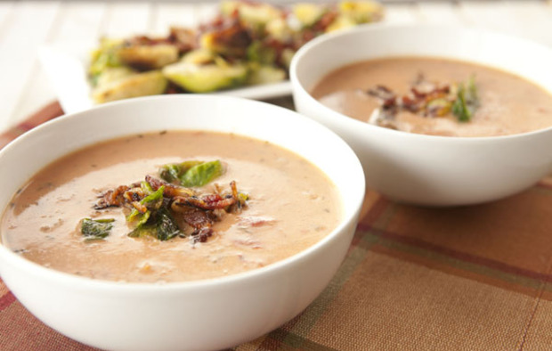 Muir Glen Tomato Bacon Brussels Bisque Recipe