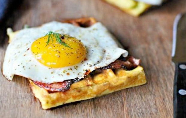 Potato Dill Waffles Recipe