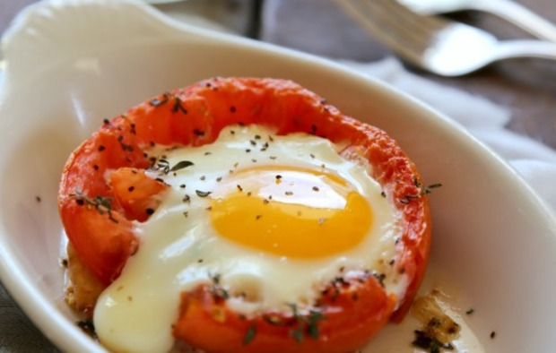 baked eggs baked eggs in whole roasted tomatoes recipe yummly eggs ...