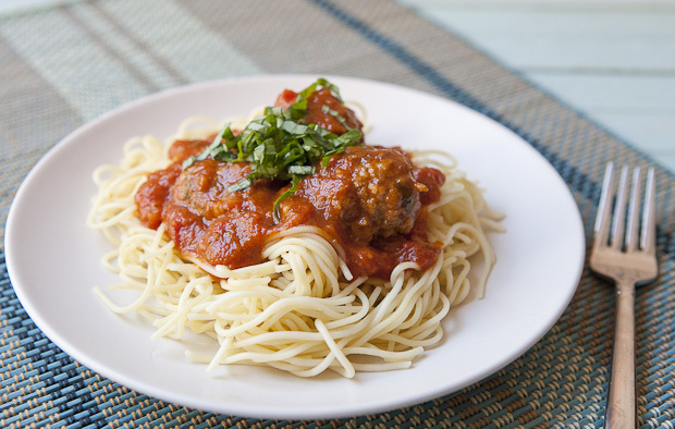 Lamb Meatballs and Spaghetti