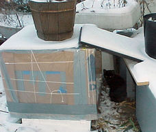 Emergency feral cat winter shelter