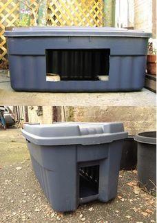 Storage bin feeding stations