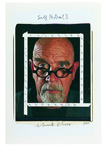 Chuck Close exhibition  Photo Maquettes on display at Eykyn McLean Gallery.