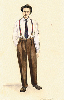 Costume designer Ciera Wells´s sketch for her movie Inferno.