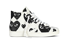 Comme des Garcons and Converse create the new Comme des Garcons PLAY for Converse Pro Leather collection.