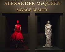 Alexander McQueen Savage Beauty exhibition at MET NYC.