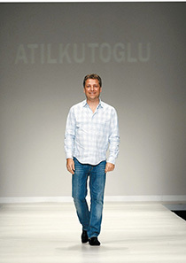 "Turkish fashion designer Atil Kutoglu presents his collection at the ""IFW – Istanbul Fashion Week"