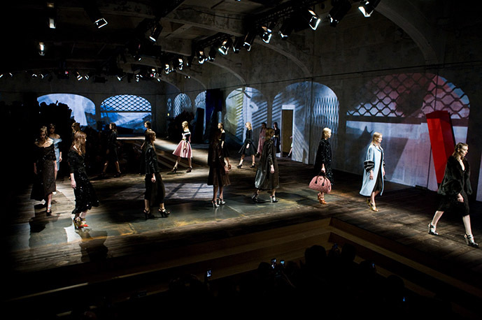 Prada Woman Runway Show Fall 13.