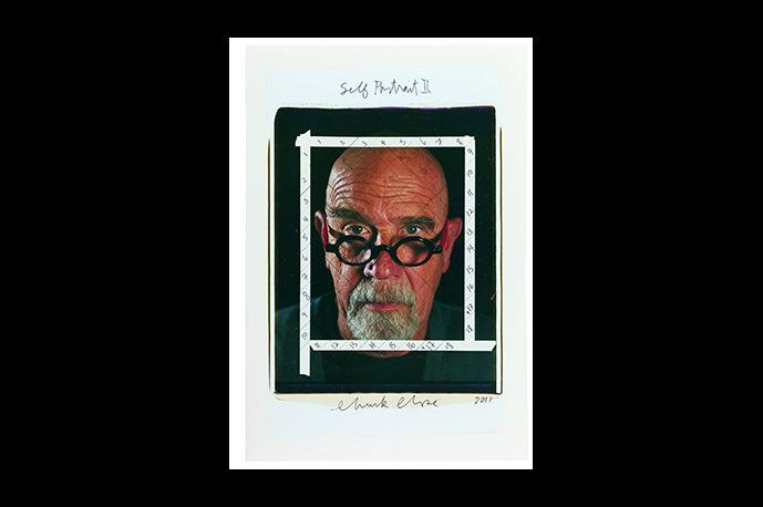 Chuck Close Photo Maquettes on display at Eykyn Maclean