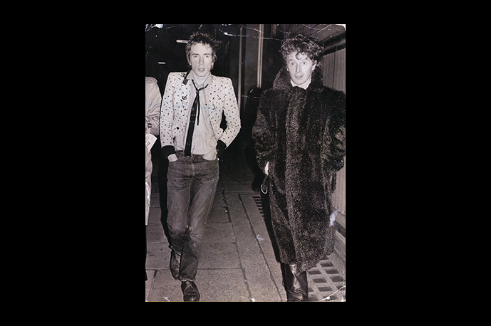 John Lydon and his maker, Malcolm McLaren,founder of the Punk Rock band Sex Pistols.