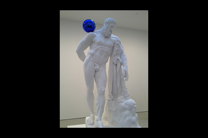 Jeff Koons new exhibition Gazing Ball on display at David Zwirner Gallery.