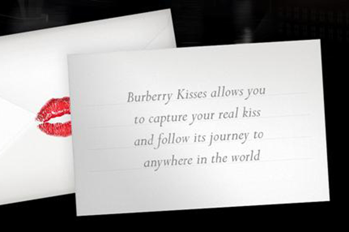 Burberry´s new project with Internet Giant Google - Burberry KIsses.