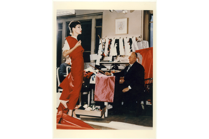 Christian Dior with model Lucky, circa 1955. Courtesy of Christian Dior _zip_magazine