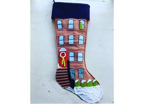 Brownstone Christmas Stocking