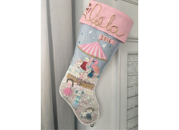 Custom girl's stocking