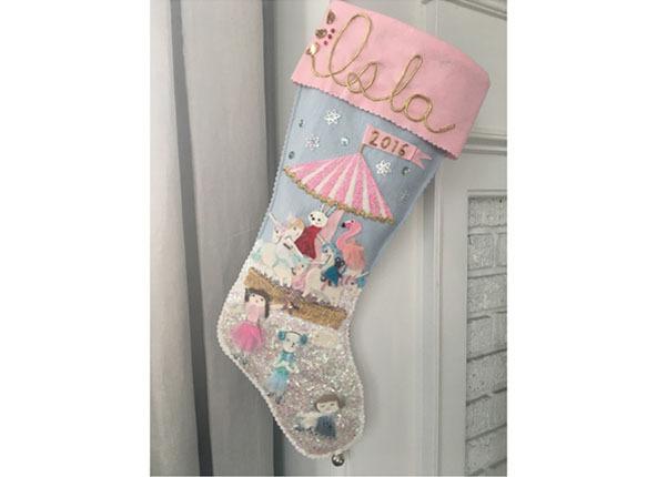 Custom girl's stocking