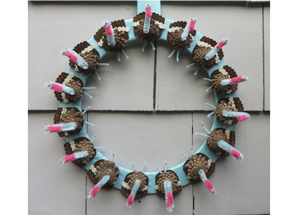 Pinecone Turkey Wreath