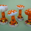 Pumpkin Mushroom Plush group