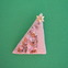 Sequin-encrusted Christmas tree pin