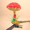 Spun Cotton Mushroom Clip Ornament