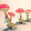 Spun Cotton Mushrooms Clip Ornaments