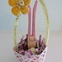 Small Easter Basket with Bunny
