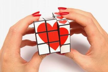 Heart rubix cube